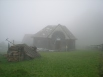 The main houseon a foggy spring day